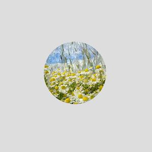 Painted Wild Daisies Mini Button