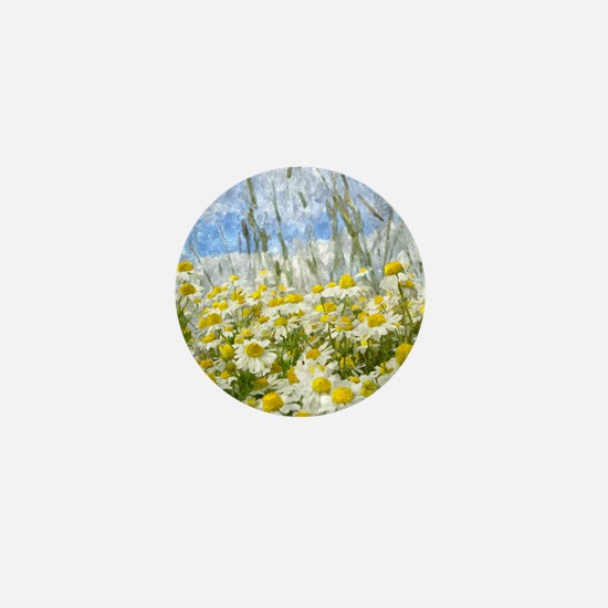 Painted Wild Daisies Mini Button