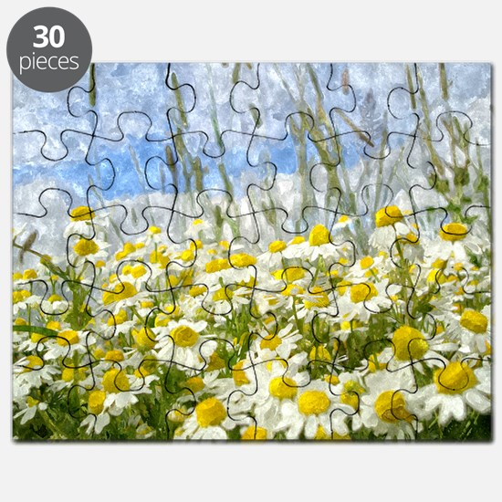 Painted Wild Daisies Puzzle