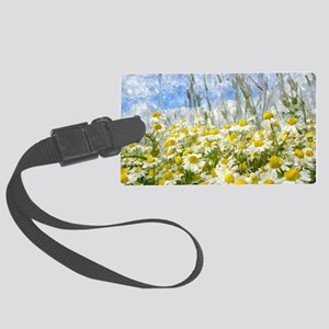 Painted Wild Daisies Large Luggage Tag