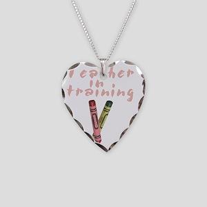 teacher-in-training Necklace Heart Charm