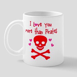 Love More than Pirates Mug