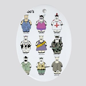 The_moos_poster Oval Ornament