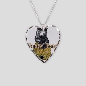 honey bear Necklace Heart Charm