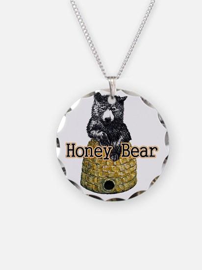 honey bear Necklace Circle Charm