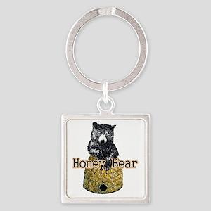 honey bear Square Keychain