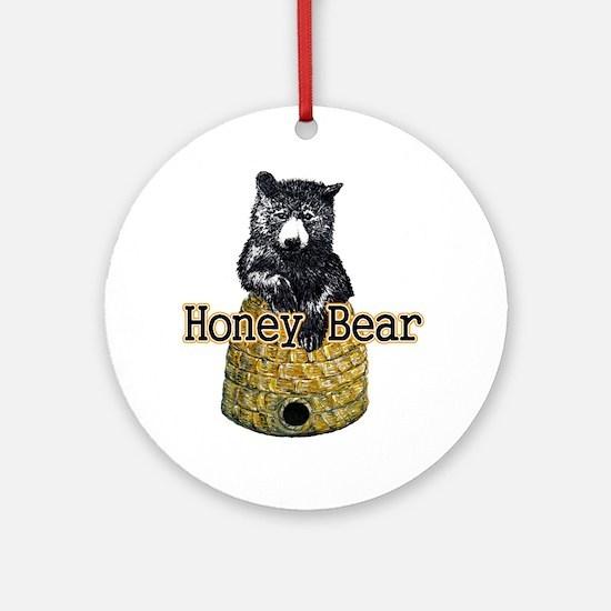 honey bear Round Ornament