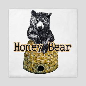 honey bear Queen Duvet