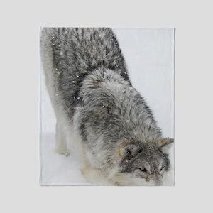 x14 2wolf Throw Blanket