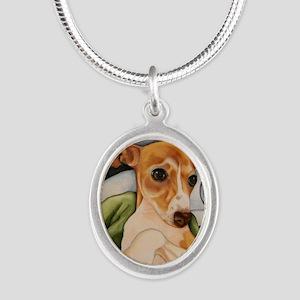 italgreybath Silver Oval Necklace