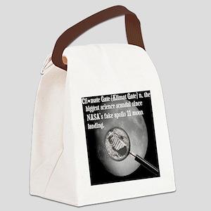 2-Moon Landing Pillow Canvas Lunch Bag
