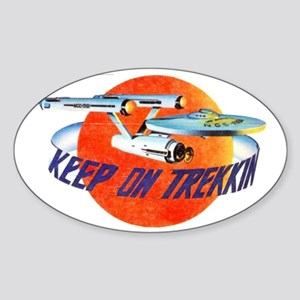 AMT Keep On Trekkin Sticker (Oval)