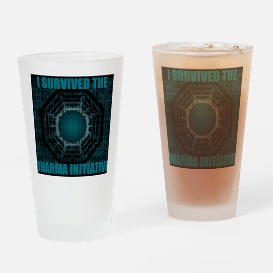 i survived dharma Drinking Glass