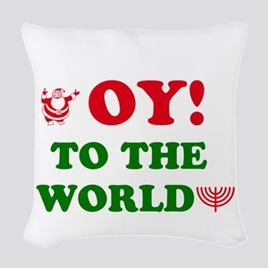Oy to the World! Woven Throw Pillow