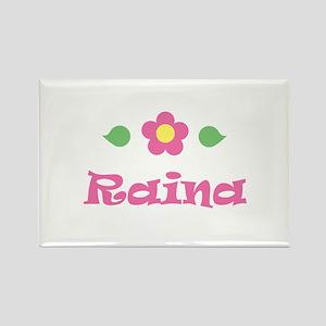 "Pink Daisy - ""Raina"" Rectangle Magnet"