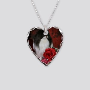 Large 5JCSpencerRose4x4 Necklace Heart Charm