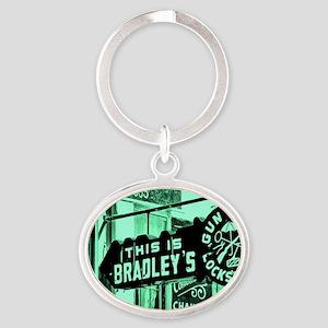 Bradleys Oval Keychain