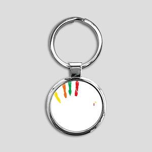 Slapsgiving_color Round Keychain