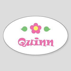 """Pink Daisy - """"Quinn"""" Oval Sticker"""