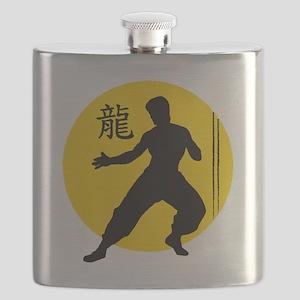 Kung Fu Stripes Flask