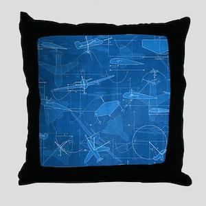Aerodynamics Throw Pillow