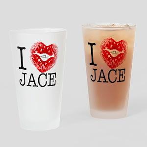 I_HEART_JACE Drinking Glass