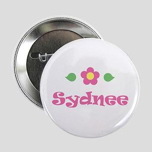 "Pink Daisy - ""Sydnee"" Button"