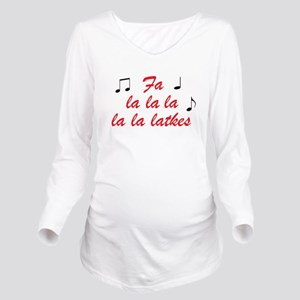 Fa la la la latkes Long Sleeve Maternity T-Shirt