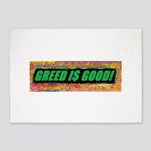 Greed is Good 5'x7'Area Rug