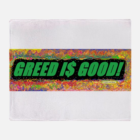 Greed is Good Throw Blanket