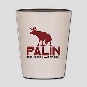 Palin Moose Dropped-RB Shot Glass