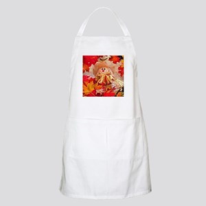 Scarecrow with autumn colors Apron