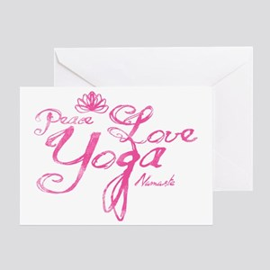 PeaceLoveYoga Greeting Card