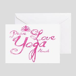 PeaceLoveYoga Greeting Card