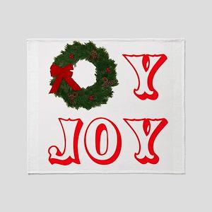 oyjoywreath2 Throw Blanket