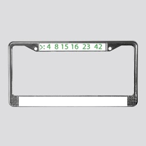 the numbers License Plate Frame