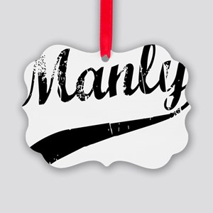 Manly Picture Ornament