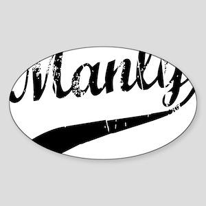 Manly Sticker (Oval)