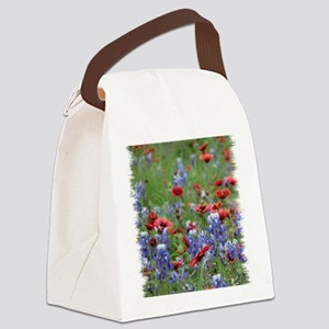BLUEBONNETS AND FIREWHEELS 2 Canvas Lunch Bag