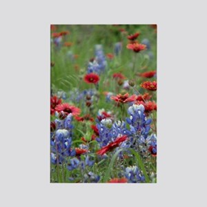 BLUEBONNETS AND FIREWHEELS 2 Rectangle Magnet