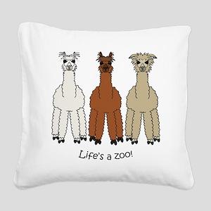 alpacalight Square Canvas Pillow