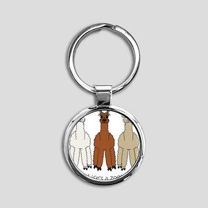 alpacalight Round Keychain