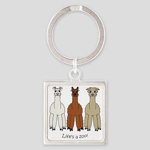 alpacalight Square Keychain