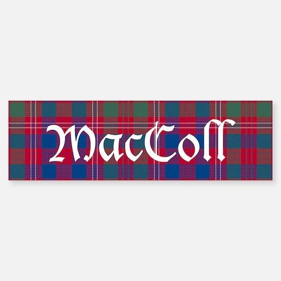 Tartan-MacColl hunting Sticker (Bumper)