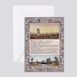The_Sunday_at_Home_1880_-_Psalm_23 Greeting Card