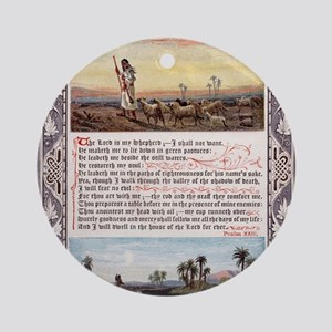 The_Sunday_at_Home_1880_-_Psalm_23 Round Ornament