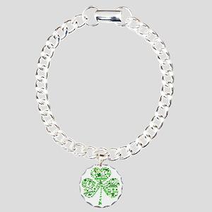 Irish Shamrock Charm Bracelet, One Charm