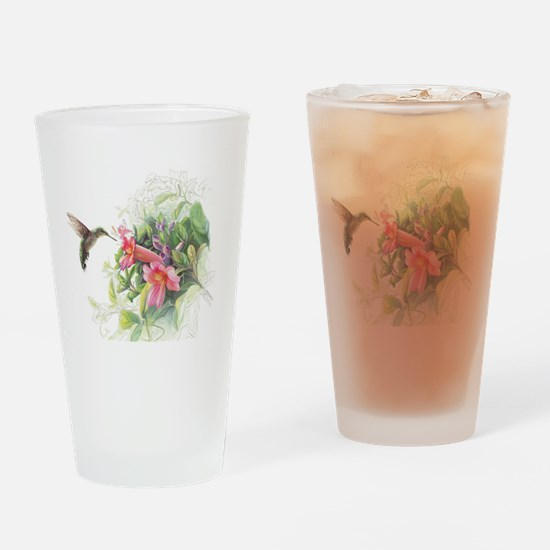 Hummingbird_Card Drinking Glass