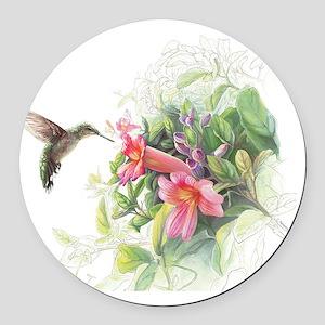Hummingbird_Card Round Car Magnet