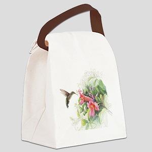 Hummingbird_Card Canvas Lunch Bag
